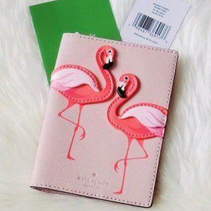 katespade flamingo Passport holder